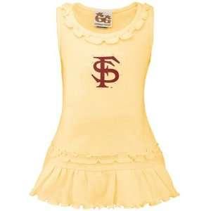 Light Gold Swarovski Crystal Ruffle Tank Dress