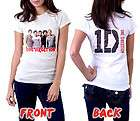 ONE DIRECTION T Shirt British Irish Boy Band White Girls Tee Size S,M