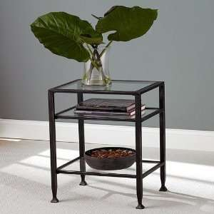 SEI Metal Frame End Table: Furniture & Decor