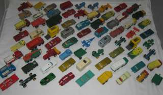 1960s MATCHBOX LESNEY REGULAR WHEELS LOT OF 72 WITH CARRYING CASE (E