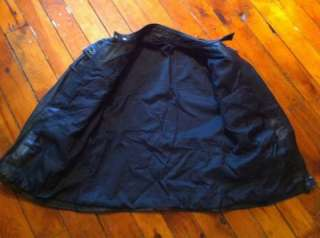 HEIN GERICKE BLACK LEATHER MOTORCYCLE JACKET SIZE 40