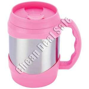 Mug 52oz Stainless Steel Large Big Oversized Huge Pink Coffee Travel