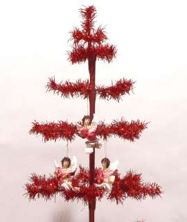 RED CHRISTMAS ORNAMENT DISPLAY TREE 5