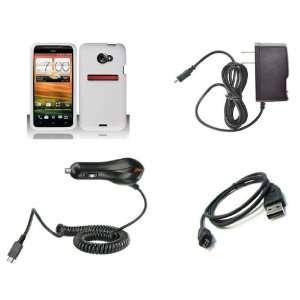 HTC EVO 4G LTE (Sprint) Premium Combo Pack   White Silicone Skin Case