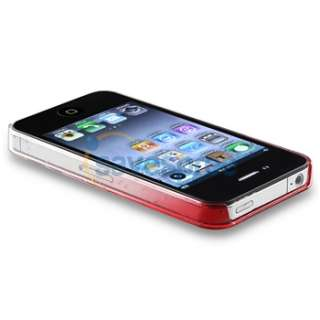 Ultra Thin Red Clear Waterdrop Hard Case Cover+PRIVACY FILTER for