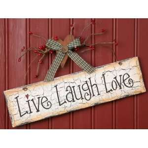 Live, Laugh, Love   Wood Sign Hanging