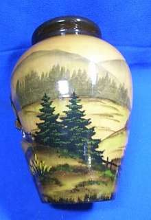 Antique German Wood Carved Black Forest Vase
