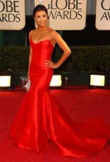 Red Satin Wedding /Evening dress Formal Gown WJ463