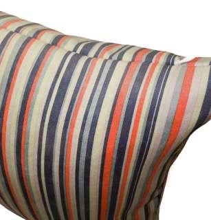 Orange Stripe Velvet Cushion/Pillow/Throw Cover*Custom Size*