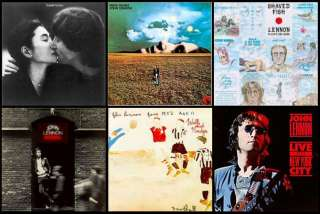 BEATLES JOHN LENNON ALBUM COVERS COASTERS ~NEW SET OF 6