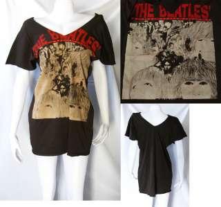 THE BEATLES REVOLVER WOMEN T SHIRT DRESS TANK TOP M L
