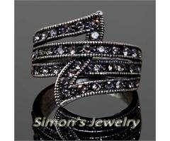 VTG Style Ring with Swarovski Crystal JA130 ALL SIZE