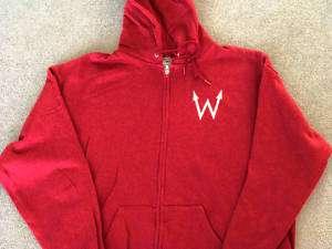 WEEZER 2002 Tour zip HOODIE HVY WGHT NEW XL Sweat shirt