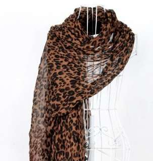 Large Animal Leopard Print Shawl Scarf Stole Cheetah Neck Wrap