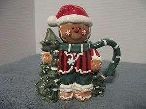 HOMCO GINGERBREAD MAN TEA POT CHRISTMAS DECORATIVE KITCHEN WARE