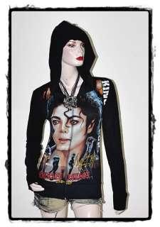 Michael Jackson Metal Punk Rock DIY Slim Fit Hoodie Top