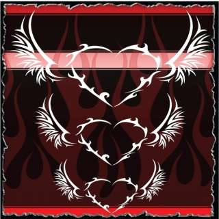 Heart 2 airbrush stencil template harley paint