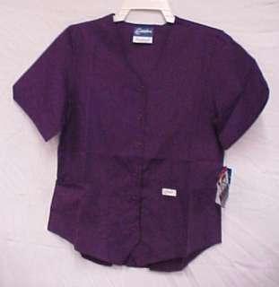 Scrub Top Scrubs Deep Purple Vest Style Medium NWT