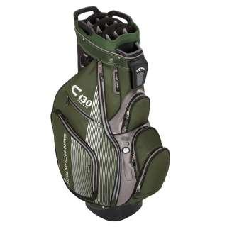 2012 Sun Mountain C 130 Stripe Cart Golf Bag   Black/Pine/Charcoal