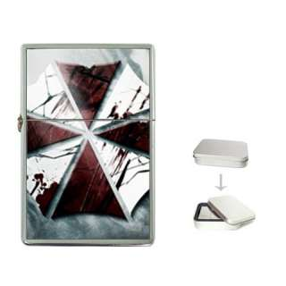 RESIDENT EVIL UMBRELLA Flip Top Lighter Metal Chrome G