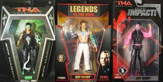 JEFF HARDY (GLOW PAINT, LOTR, DELUXE IMPACT 5)   TNA PACKAGE DEAL TOY