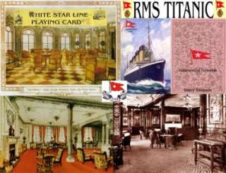 TITANIC. WHITE STAR LINE PLAYING CARD. CIRCA 1910 +COA+