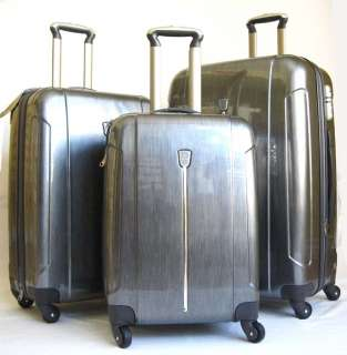 3Piece Luggage Set Hard Rolling 4 Wheels Spinner Gray