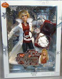 NEW Disney HANNAH MONTANA Holiday Pop Star BARBIE DOLL