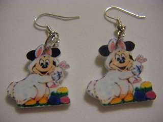 Disney Mickey Mouse Earrings   Easter bunny Spring CUTE