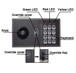 Panel Flat Wall Safe Office Home Security Lock Gun Cash Jewelry LED