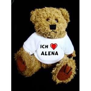 Teddy Bear mit Ich liebe Alena t shirt  Spielzeug