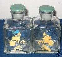 1950s Art Deco Style Lady Face Vanity Perfume Bottles