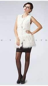 0013 Lambswool Raccon lovely elegant women Vest waistcoat gilet