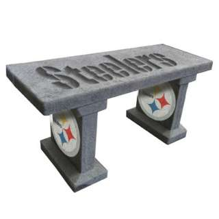 Pittsburgh Steelers NFL Team Name & Logo Painted Concrete Garden Bench