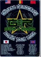 WORLD TOUR (FLAGS) GUNS n ROSES metal sign tin poster