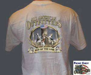 Coon Hunting Dogs American Outfitters T Shirt