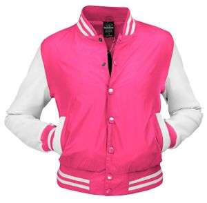URBAN CLASSICS LADY LIGHT COLLEGE JACKE PINK/WEISS XL