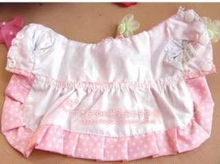 Dog Puppy Pet Apparel Cotton Pink Princess Dress  Size XS