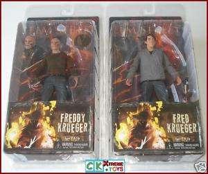 NIGHTMARE on ELM STREET Fred & Freddy Krueger Set NECA