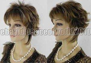 New Fashion Brown Mix Blonde Short WOMENS FULL WIG