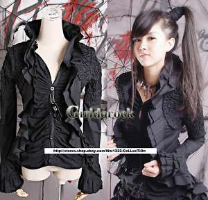 PUNK VISUAL KEI DARK GOTHIC NANA Kera Y239 BLOUSE S XL
