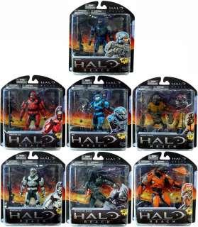 Halo Mcfarlane Reach Series 2 Figures Set Of 7 *New*