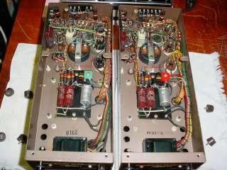 Pair Marantz Model 5 Tube Amplifiers + Original Tube Cages & Mullard