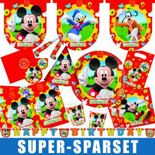 Micky Maus Mickey Mouse Kindergeburtstag Geburtstag Set