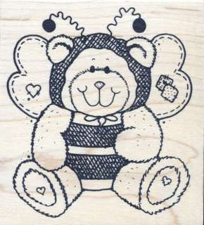 Great Impressions Bear in Bee Costume Rubber Stamp