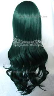 DEAD MASTER Cosplay New Long Dark green Curly Wig