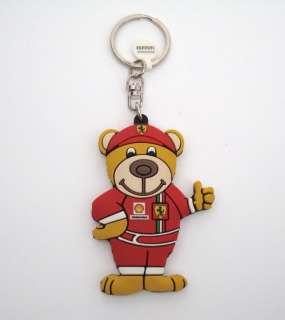 Ferrari Bear Keychain / Key Ring In Rubber