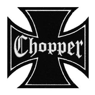 CHOPPER IRON CROSS Patch Aufnäher Eisernes Kreuz MC