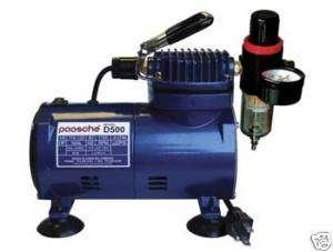 Paasche Airbrush Compressor w ShutOff +Regulator D500SR