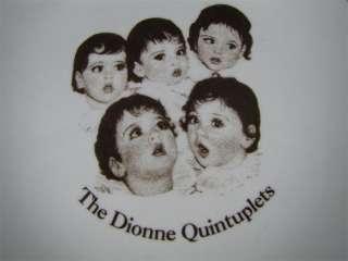 Vintage Dionne Quintuplets Plate Gold Trim Made Canada